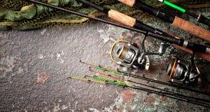 Στοιχεία για την αλιεία των εξελίκτρων ράβδων Στοκ φωτογραφίες με δικαίωμα ελεύθερης χρήσης
