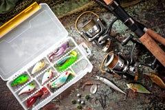 Στοιχεία για την αλιεία των εξελίκτρων ράβδων Στοκ εικόνα με δικαίωμα ελεύθερης χρήσης