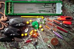 Στοιχεία για την αλιεία των εξελίκτρων ράβδων Στοκ φωτογραφία με δικαίωμα ελεύθερης χρήσης