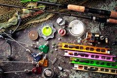Στοιχεία για την αλιεία των εξελίκτρων ράβδων Στοκ Φωτογραφίες