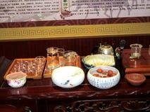 Στοιχεία για την τελετή κινέζικα τσαγιού Στοκ εικόνα με δικαίωμα ελεύθερης χρήσης