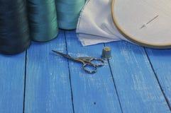 Στοιχεία για τη ραπτική και το ράψιμο Στοκ Εικόνες
