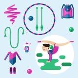 Στοιχεία για τη ρυθμική γυμναστική Στοκ εικόνα με δικαίωμα ελεύθερης χρήσης