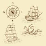 Στοιχεία για τους παλαιούς χάρτες σχεδίου Στοκ Εικόνες