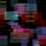 Στοιχεία δυσλειτουργίας καθορισμένα Ψηφιακό αφηρημένο σχέδιο χρώματος θορύβου εικονοκυττάρου Τηλεοπτική δυσλειτουργία παιχνιδιών  διανυσματική απεικόνιση