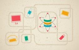 Στοιχεία επιστήμη και έννοια επικοινωνίας Στοκ εικόνες με δικαίωμα ελεύθερης χρήσης