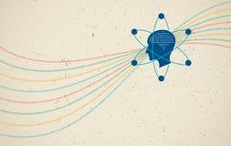 Στοιχεία επιστήμη και έννοια επικοινωνίας Στοκ φωτογραφία με δικαίωμα ελεύθερης χρήσης