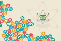Στοιχεία επιστήμη και έννοια επικοινωνίας Στοκ εικόνα με δικαίωμα ελεύθερης χρήσης