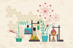 Στοιχεία επιστήμη και έννοια επικοινωνίας Στοκ Εικόνες