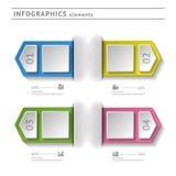 Στοιχεία επιχειρησιακού infographics. Temp σύγχρονου σχεδίου Στοκ φωτογραφία με δικαίωμα ελεύθερης χρήσης