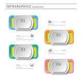 Στοιχεία επιχειρησιακού infographics. Temp σύγχρονου σχεδίου Στοκ Εικόνες