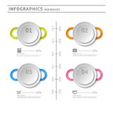 Στοιχεία επιχειρησιακού infographics. Temp σύγχρονου σχεδίου Στοκ φωτογραφίες με δικαίωμα ελεύθερης χρήσης