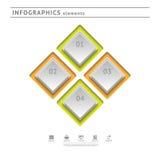 Στοιχεία επιχειρησιακού infographics. Temp σύγχρονου σχεδίου Στοκ Εικόνα