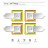 Στοιχεία επιχειρησιακού infographics. Temp σύγχρονου σχεδίου Στοκ εικόνα με δικαίωμα ελεύθερης χρήσης
