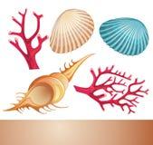 Στοιχεία θερινής θάλασσας απεικόνιση αποθεμάτων