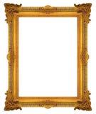 Στοιχεία διακοσμήσεων, εκλεκτής ποιότητας χρυσά floral σχέδια πλαισίων Στοκ Φωτογραφίες