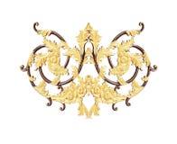 Στοιχεία διακοσμήσεων, εκλεκτής ποιότητας χρυσά floral σχέδια Στοκ φωτογραφίες με δικαίωμα ελεύθερης χρήσης