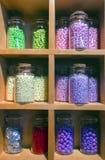 Στοιχεία διακοσμήσεων Colorfull στα μπουκάλια γυαλιού Στοκ Εικόνα