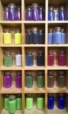 Στοιχεία διακοσμήσεων Colorfull στα μπουκάλια γυαλιού Στοκ Φωτογραφίες