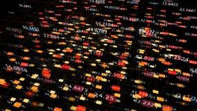 Στοιχεία και αριθμοί - τιμές στοιχείων και αριθμού που περνούν μέσω του κυβερνοχώρου απεικόνιση αποθεμάτων