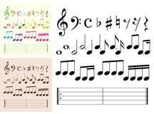 στοιχεία μουσικά Στοκ φωτογραφίες με δικαίωμα ελεύθερης χρήσης
