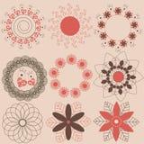 στοιχεία ντεκόρ floral διανυσματική απεικόνιση
