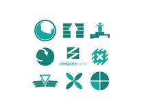 Στοιχεία λογότυπων καθορισμένα πράσινα Στοκ εικόνες με δικαίωμα ελεύθερης χρήσης
