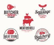Στοιχεία λογότυπων και σχεδίου προϊόντων Buchery και κρέατος Στοκ εικόνα με δικαίωμα ελεύθερης χρήσης