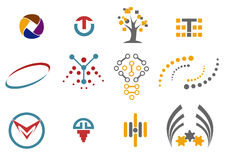 12 στοιχεία λογότυπων και σχεδίου Στοκ φωτογραφίες με δικαίωμα ελεύθερης χρήσης