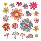 Στοιχεία λουλουδιών ελεύθερη απεικόνιση δικαιώματος