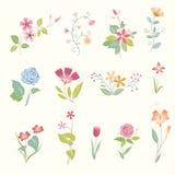 Στοιχεία λουλουδιών Στοκ φωτογραφίες με δικαίωμα ελεύθερης χρήσης