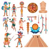 Στοιχεία πολιτισμού της Maya καθορισμένα απεικόνιση αποθεμάτων
