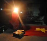 Στοιχεία που αντιπροσωπεύουν τον κομμουνισμό στο Βιετνάμ Στοκ Εικόνες