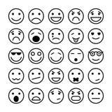 Στοιχεία προσώπων Smiley για το σχέδιο ιστοχώρου Στοκ Φωτογραφία