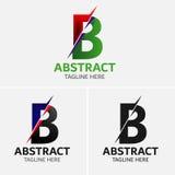 Στοιχεία προτύπων σχεδίου εικονιδίων λογότυπων γραμμάτων Β Στοκ φωτογραφία με δικαίωμα ελεύθερης χρήσης