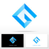 Στοιχεία προτύπων σχεδίου εικονιδίων λογότυπων γραμμάτων Γ - απεικόνιση Στοκ Εικόνα