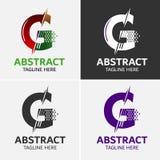 Στοιχεία προτύπων σχεδίου εικονιδίων λογότυπων γραμμάτων Γ Στοκ Εικόνα