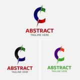 Στοιχεία προτύπων σχεδίου εικονιδίων λογότυπων γραμμάτων Γ Στοκ Φωτογραφία