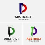 Στοιχεία προτύπων σχεδίου εικονιδίων λογότυπων γραμμάτων Δ Στοκ φωτογραφία με δικαίωμα ελεύθερης χρήσης