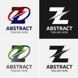 Στοιχεία προτύπων σχεδίου εικονιδίων λογότυπων γραμμάτων Ζ Στοκ Εικόνα