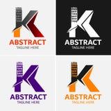 Στοιχεία προτύπων σχεδίου εικονιδίων λογότυπων γραμμάτων Κ Στοκ φωτογραφία με δικαίωμα ελεύθερης χρήσης