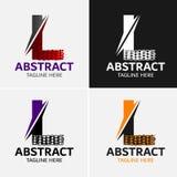 Στοιχεία προτύπων σχεδίου εικονιδίων λογότυπων γραμμάτων Λ Στοκ Εικόνα