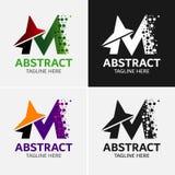 Στοιχεία προτύπων σχεδίου εικονιδίων λογότυπων γραμμάτων Μ Στοκ Εικόνα