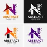 Στοιχεία προτύπων σχεδίου εικονιδίων λογότυπων γραμμάτων Ν Στοκ Εικόνες