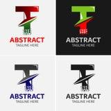Στοιχεία προτύπων σχεδίου εικονιδίων λογότυπων γραμμάτων Τ Στοκ φωτογραφίες με δικαίωμα ελεύθερης χρήσης