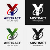Στοιχεία προτύπων σχεδίου εικονιδίων λογότυπων γραμμάτων Υ Στοκ Εικόνες