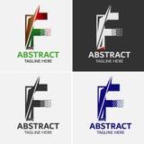 Στοιχεία προτύπων σχεδίου εικονιδίων λογότυπων γραμμάτων Φ Στοκ φωτογραφία με δικαίωμα ελεύθερης χρήσης
