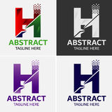 Στοιχεία προτύπων σχεδίου εικονιδίων λογότυπων γραμμάτων Χ Στοκ Φωτογραφίες