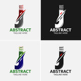 Στοιχεία προτύπων σχεδίου εικονιδίων λογότυπων γραμμάτων J Στοκ φωτογραφία με δικαίωμα ελεύθερης χρήσης