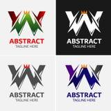 Στοιχεία προτύπων σχεδίου εικονιδίων λογότυπων γραμμάτων W Στοκ εικόνα με δικαίωμα ελεύθερης χρήσης